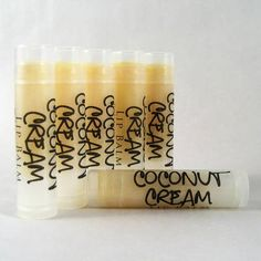 Handmade Lip Balm Labels by Wink Soap love the frosty tube with clear label