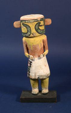 Yellow Face Bean Kachina Doll