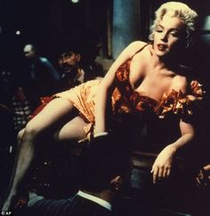Another shot of Marilyn's Saloon Girl costume