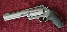 Raging Judge Magnum - a handgun that can be chambered to fire buckshot.