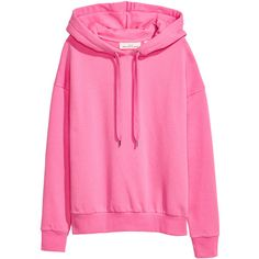 Hooded top R 379 ($15) ❤ liked on Polyvore featuring tops, hoodies, pink ribbed top, h&m hoodies, hooded top, marled top and pink hoodies