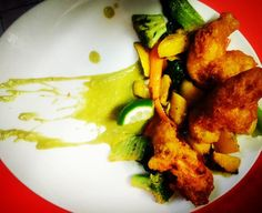 Today special tempura chicken bockchoï and rutabaga roast pee mint sirup#chefinstagram #chefsofinstagram #cheflife #chefporn #wildchef #truecooksstreetteam #foodporn #foodgasm #instachef #foodlover #ouichef #thugchef #cook #touchmymeatandiwillfuckyouup #truecooks #foodstarz #artofplating #whatwedo #gastroart #food #goodlooksforgoodcooks #instafood #theartofplating  #chefparis #stackpaper #tacoreligion #paiddacosttobetheboss #auxtonneauxdeshalles #comeandsweatwithus #chefstalk by chefmoreyto