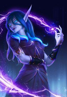 Void elf Ren'dorei Daily World of Warcraft Art Board ^^ // Blizzard // wow // . - Void elf Ren'dorei Daily World of Warcraft Art Board ^^ // Blizzard // wow // Hearthstone // Geek - Dark Fantasy Art, Fantasy Kunst, Fantasy Women, Fantasy Girl, Fantasy Artwork, Final Fantasy, World Of Warcraft, Art Warcraft, Fantasy Character Design