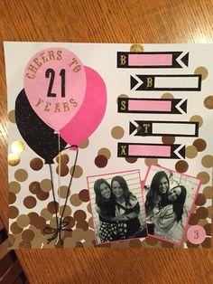 Shot book page. 21st birthday #sorority #barcrawl #diy