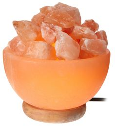 Crystal Allies Gallery CA SLSFB-S Natural Himalayan Salt Fire Bowl Lamp with ...