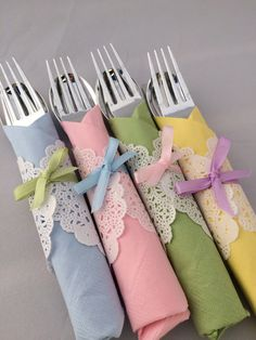 Easter Flatware - Baby Shower Cutlery, Tea Party Flatware, Easter Flatware, Baby Shower Silverware