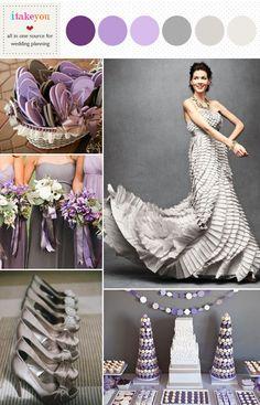 WEDDING PALLET SCHEMES | ... purple grey wedding color schemes,grey purple wedding colours palette