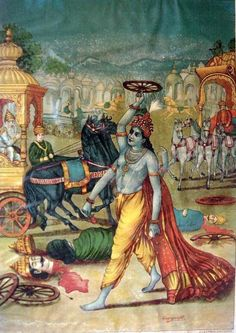 The Death of Jayadratha. Read more about Jayadratha