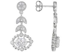 Charles Winston For Bella Luce (R) 2.96ctw Rhodium Plated Silver Earrings