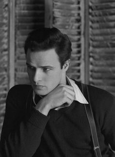 Marlon Brando photographed by Serge Balkin, 1948.