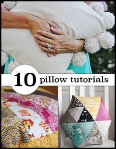 10 gorgeous pillow tutorials to sew for home!