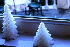 外を伺うクリスマスツリー(ろうそく)