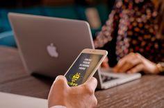 iPhone on man's hand. #free #psd #apple #iphone #laptop #digital #design #mockup #business #mobile #man #woman
