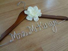 Personalized Hanger, Wedding hangers, Custom Hanger, Brides Hanger, Mrs Hanger, Bridal Hanger, Wedding Dress Hanger, Last Name Hanger