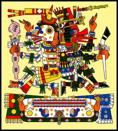 Mictlantecuhtli and Quetzalcoatl Ehecatl - Codex Borgia | Flickr - Photo Sharing!