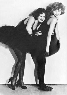 Clara Bow & Joyce Compton in Dangerous Curves (1929)