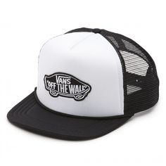 aed941ff00b Vans Classic Patch Boys Trucker Hat Black White Vans The Classic Patch Boys  Trucker Hat is a polyester mesh-back adjustable trucker hat with a Vans Off  The ...