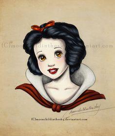 Snow White Portrait Color by *moonchildinthesky on deviantART