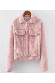 Vintage Soft Fur Jacket In Pink