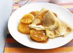 AustralianGourmet Traveller fast dessert recipe for crepes with honeyed oranges