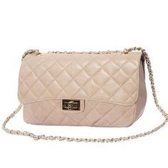Borsa a tracolla vera pelle Be exclusive GM Myalleshop Metallica, Color Oro, Chanel, Beige, Shoulder Bag, Classic, Products, Derby, Shoulder Bags