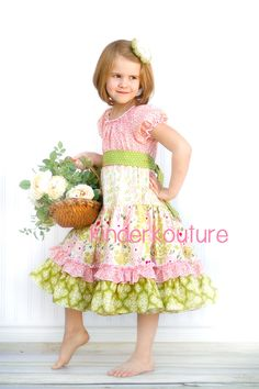 Girl's Easter Dress - The April Dress http://kinderkoutureclothing ...