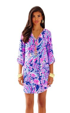 5d2046428f2f Arielle Tunic Dress - Lilly Pulitzer Iris Blue Shrimply Chic Daytime  Dresses