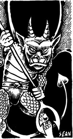 More Demons & Devils for Labyrinth Lord Theistic Satanism, Fantasy Inspiration, Sci Fi Fantasy, Sci Fi Art, Underworld, Goblin, Dungeons And Dragons, Line Art, Old School