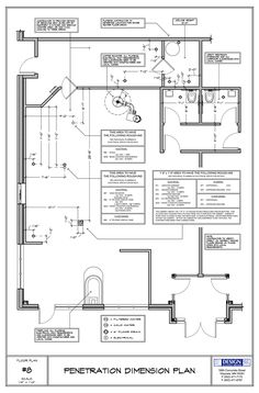 Cafe floor penetrations for equipment