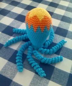 Sterren Crochet Dolls, Crochet Baby, Knit Crochet, Amigurumi Toys, Amigurumi Patterns, Preemie Octopus, Water Animals, Preemies, Funny Toys