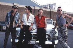 The Clash outside JFK Stadium in Philadelphia - September 25, 1982 - Bob Gruen / Philip Kamin