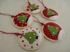 Christmas felt ornaments