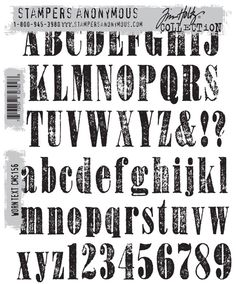 Stamper's Anonymous - Tim Holtz - Cling Mounted Rubber Stamp Set - Worn Text at Scrapbook.com