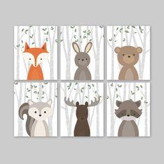 Crèche animaux Art Woodland Nursery décor décor de chambre