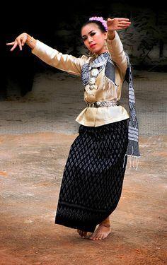 Thai dancer in Korat, Isaan, Thailand
