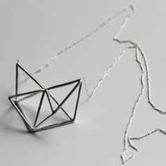 Triangles - silver necklace