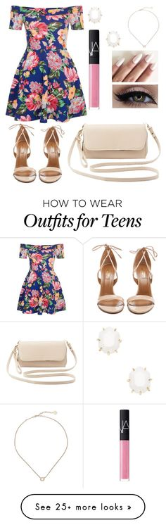 """Dressy Floral"" by jillibean0025 on Polyvore featuring New Look, Aquazzura, Kendra Scott, NARS Cosmetics and Charlotte Russe"