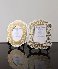25294e056287 Vintage frame table tags Baroque Wedding