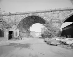 Last remaining part of Cleveland's Viaduct still there today photo from the late 60s