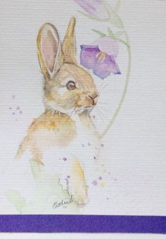 Carte postale illustrée à l'aquarelle
