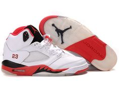 9f6b7a630db066 Jordan 5 Reissue Shoes In White Red Black