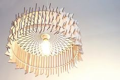 The Staggered Lampshade wooden lamps / laser by ACockneyGentleman
