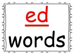 Students practice reading words in the -ed word family as you go through the power point presentation. This is a great activity for introducing a new word family or for rhyming.