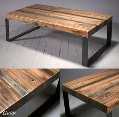 reclaimed wood, coffee table / coffee table made of old recycled wood Reclaimed Wood Coffee Table, Diy Coffee Table, Wood Table, Reclaimed Wood Furniture, Dining Table, Furniture Projects, Wood Projects, Diy Furniture, Furniture Design