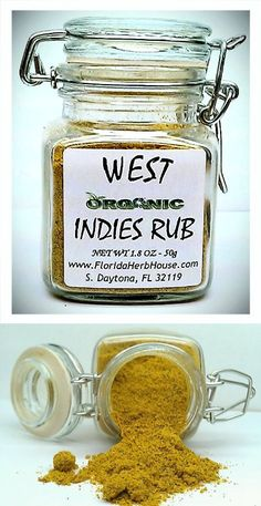 West Indies Rub 1.8 oz. (50g) - Organic Eco Friendly Gifts! - Eco-Spices!