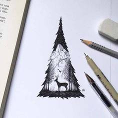 Wonderful Black Pen Illustrations will Inspire You in Illustration
