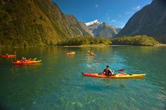 Kayaking in the 8th wonder of the world...Milford Sound in New Zealand