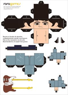 Paper toy | Paul McGuigan (Oasis) by Rafa Gomes    http://www.flickr.com/rafagomes