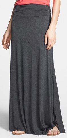 charcoal ruched maxi #skirt  http://rstyle.me/n/gigwhpdpe