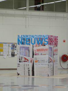 ROC WESTERSCHELDE Terneuzen Graphic interior concept, news and information meeting point.